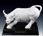 12 Top Dehua Porcelain Feng Shui Cattle Ox Cow Bull Zodiac Year Animal Statue