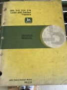 John Deere Technical Manual For 300312314316 Lawn And Garden Tractor