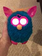 2012 Hasbro Furby Friend - Teal Blue/green + Pink - Tested Working