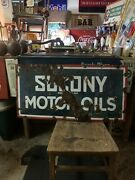 Porcelain Socony Sign Double Sided 1920andrsquos Extremely Rare Gas Sign Oil Sign