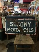 Porcelain Socony Sign Double Sided 1920's Extremely Rare Gas Sign Oil Sign