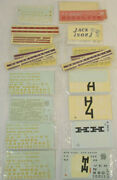 O Scale Walthers Decals For Locos, Passenger Cars And Freight Cars