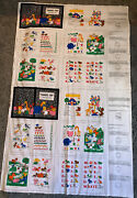 Teachers Pet Learning Cloth Quiet Story Book Fabric Panel Cranston Set Of Two
