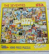White Mountain Puzzles The Seventies 1000 Piece Jigsaw Puzzle - Sealed