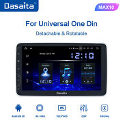 Dasaita 1 Din 10.2and039and039 Android 10.0 Car Stereo Single Din Adjustable Screen Gps