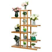 Bamboo Patio Porch Home Flower Succulent Display Rack Plant Stand Storage