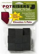 16 Pack Invisible Pot Feet To Elevate Up To 4 Flower Plant Planters And Statues