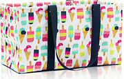 New Thirty One Large Utility Tote Laundry Storage Bag 31 Gift In Sweet Sprinkles