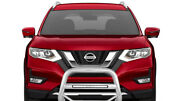 Black Horse Max Beacon Bull Bar No Skid Plate Stainless Fit 14-20 Nissan Rogue
