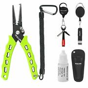 Stainless Steel 7.4 Fishing Pliers Hook Remover Tool Kits And Accessories 8 In