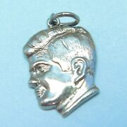 Vintage Jfk John F Kennedy Ask Not What You... Sterling Silver F Charm 5/8