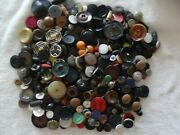 Very Cool Vintage Buttons Over 1-1/2 Lbs. Casein Plastic Wood And More B-83