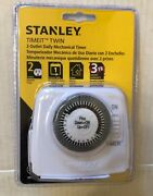 Stanley Timeit Twin 2-outlet Mechanical Timer Indoor Use Repeats Daily
