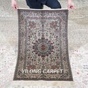 Yilong 2and039x3and039 500lines Handmade Silk Area Rug Antique Tapestry Home Carpet 574h