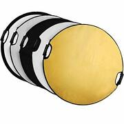 Selens 5-in-1 43 Inch 110cm Portable Handle Round Reflector Collapsible Multi