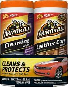 Armor All Car Cleaning And Leather Wipes - Interior Cleaner For Cars And Truck