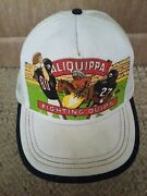 Vintage Fightings Quips Football Trucker Hat Indians Aliquippa Pittsburgh Pa Htf