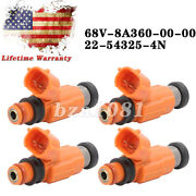 Set4 Fuel Injectors For Yamaha Outboard 115 Hp Marine Engine 2000-up Cdh210 Us