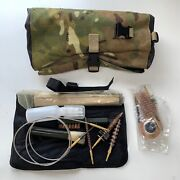 Mtp Camo Cleaning Kit Tool Roll Case W/ Assorted Goods British Army Issue