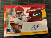 2020 Rookie Phenoms Clyde Edwards-helaire Kansas City Chiefs Auto Nike 1/1