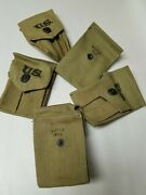 Us Gi Wwii Colt 45 Magazine Pouch Various Makers Dated 1942.