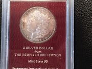 1887-s Morgan Redfied Dollar Very High Grade And The Reverse Is Proof Like