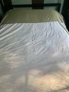 Restoration Hardware Duvet Cover King White And Sage 100 Cotton Free Sheets