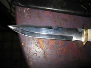 Silver Stag Pacific Model Bowie Knife D2 Steel Usa 8 1/4 Blade