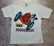 Vintage 90s Disney Mickey Mouse/speed Racer Comic Shirt Size Large