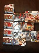 Star Wars Lot Action Figures And Lego's/speeder Bike/darth Maul/han Solo/ And More