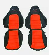 Corvette C6 Replacement Leather Seat Covers Red And Black 2005-2011