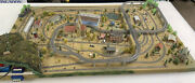 Marklin 3'x5' Z-scale Layout W/multiiple Train Operation And Illuminated Buildings