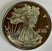 1986 Giant Half Pound .999 Silver Proof American Eagle