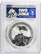 2020-p Iwo Jima 75th Anniversary 1 Oz Silver 1 First Day Issue Pcgs Ms70