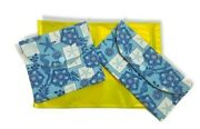 Under The Sea Set Of 2 Handmade Sanitary Product Pouches. Made In Usa