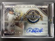 2020 Topps Derek Jeter Patch Auto 2/2 New York Yankees 20 Years Of The Captain