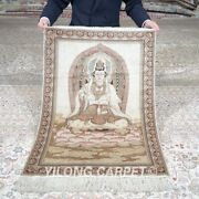 Yilong 2and039x3 500l Goddess Of Mercy Tapestry Silk Carpet High Desity Area Rug 626h