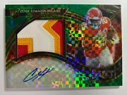 2020 Select Nfl Green Prizm Clyde Edwards-helaire Jumbo Rookie Patch Auto 3/5
