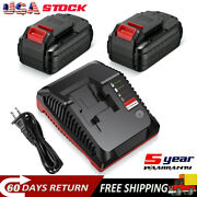 20v 6.0ah Li-ion Battery For Porter Cable Pcc685l Pcc680l Tool And Rapid Charger
