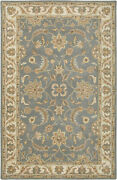 Rizzy Home Blue Rug In Wool 5and039x8and039