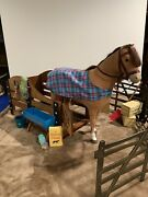 American Girl Doll Horse And Stable Set