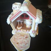Vintage Hello Kitty Candy Sweet House Bakery Sanrio Toy 1997 2002 With Figurine