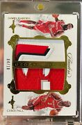 2017 Flawless James Harden Chris Paul Game Used Letter Patches Gold /10 Rockets