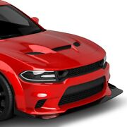 For Dodge Charger 15-20 Front Bumper Lip Chin Spoiler Demon Wide Body Style