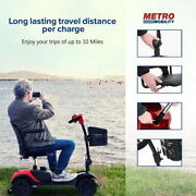 4 Wheels Power Mobility Scooter Wheel Chair Electric Device Compact For Travel