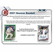 2021 Bowman Factory-sealed Retail 12 Box / 24 Pack Case Presell 5/12