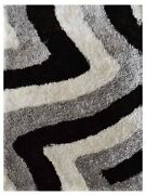 Hand Tufted Shag Polyester 10and039x13and039 Area Rug Contemporary Multicolor Bbh Bbk00047