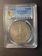 China Great Britain Silver Trade Dollar 1901 Bombay Uncirculated Pcgs Ms62