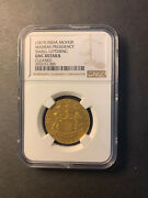British India Madras Presidency Gold Mohar 1819 Uncirculated Ngc Unc Cleaned