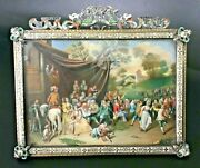 Outstanding Antique Hand Painted Miniature Silver Mounted And Enamel Decoration